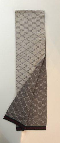 Gucci Sciarpa lavorata a maglia grigio chiaro-bianco sporco