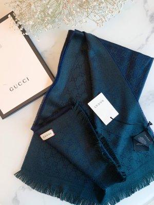 Gucci Bufanda de lana azul oscuro-petróleo