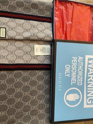 Gucci Bufanda de lana gris claro-gris