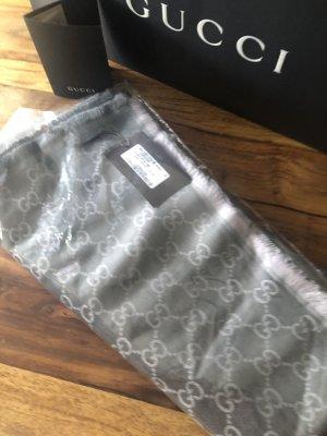 Gucci Bufanda de seda gris claro-gris