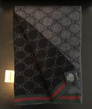 Gucci Gebreide sjaal zwart-grijs