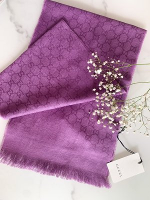 Gucci Wollen sjaal lila-blauw-paars