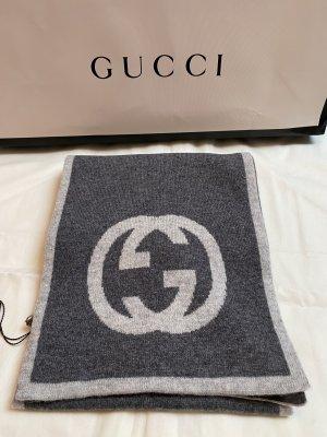 Gucci Écharpe en cachemire gris clair-gris foncé