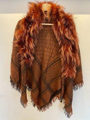 Gucci Wollen sjaal roodbruin-donker oranje