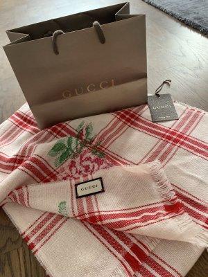 Gucci Bufanda de lana rojo-blanco puro