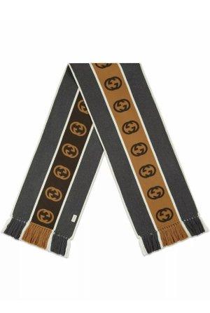 Gucci Wollen sjaal donkergrijs-wit