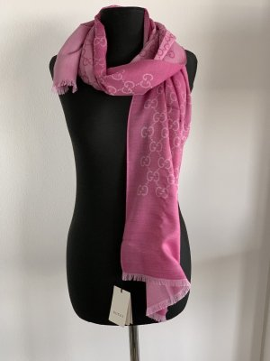 Gucci Fringed Scarf pink-pink