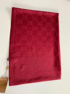Gucci Écharpe en soie rouge carmin