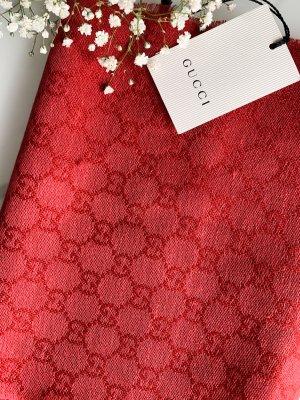 Gucci Wollen sjaal baksteenrood-donkerrood Wol