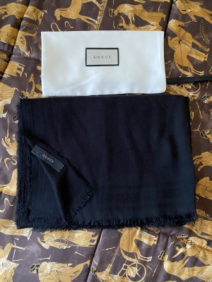 Gucci Bufanda de cachemir negro Cachemir