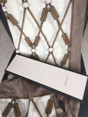Gucci Scialle marrone-grigio-crema