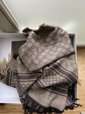 Gucci Écharpe en soie marron clair
