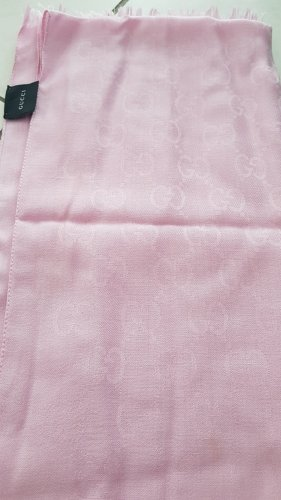 Gucci Bufanda de seda rosa claro