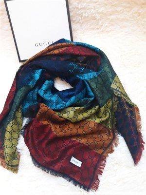 Gucci Écharpe en laine multicolore laine