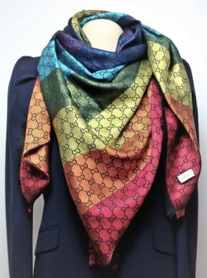 Gucci Woolen Scarf multicolored mixture fibre