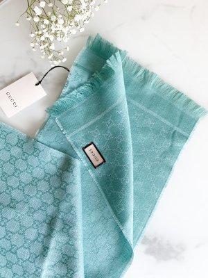 Gucci Wollen sjaal lichtblauw-babyblauw Wol