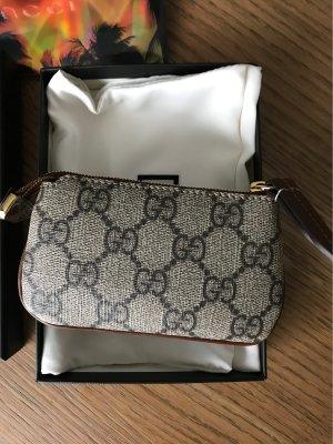 Gucci Etui voor sleutels grijs-bruin-grijs