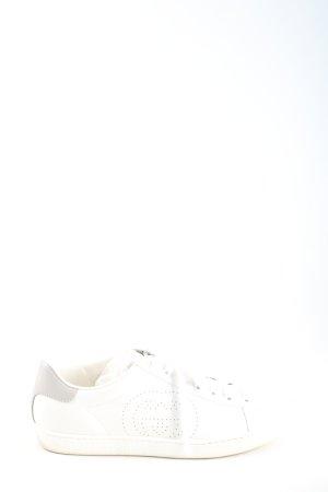 Gucci Schnürsneaker hellgrau-weiß Motivdruck Casual-Look
