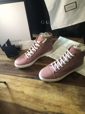 Gucci High Top Sneaker pink
