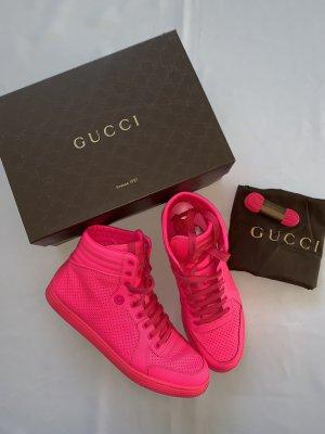 Gucci Sneakers met veters neonroos