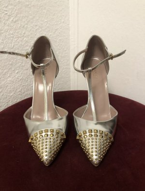 Gucci Schuhe Sandalen GR.39 Silber