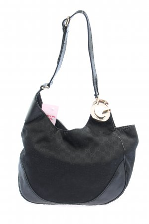 Gucci Schultertasche schwarz grafisches Muster Casual-Look