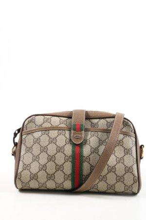 Gucci Schultertasche bronzefarben Allover-Druck Business-Look