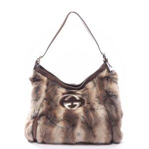 Gucci Shoulder Bag beige pelt