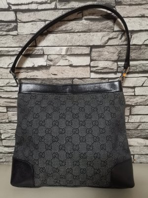 Gucci Schultertasche Tasche Gunia La Mabega Nylon Leder  Vintage