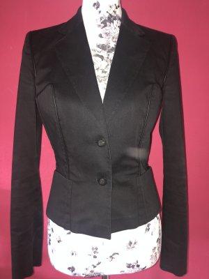 Gucci schwarzer Blazer mit Ledereinfassung