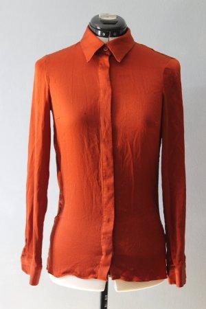 Gucci Blouse-chemisier rouille-orange foncé soie