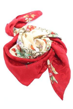 Gucci Foulard en soie motif de fleur style décontracté
