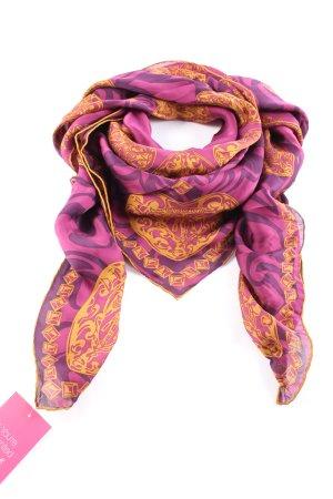 Gucci Pañuelo de seda estampado repetido sobre toda la superficie look casual