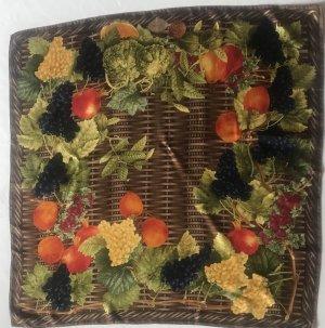 Gucci Seidentuch 90x90 mit Herbstfrüchten