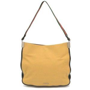 Gucci Shoulder Bag beige textile fiber