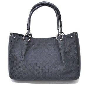 Gucci Sac fourre-tout noir fibre textile