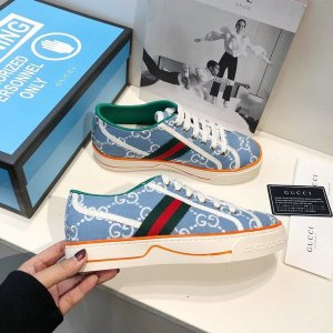 Gucci High top sneaker lichtblauw-azuur