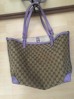 Gucci shopper Handtasche canvas craft pochette Monogramm schultertasche