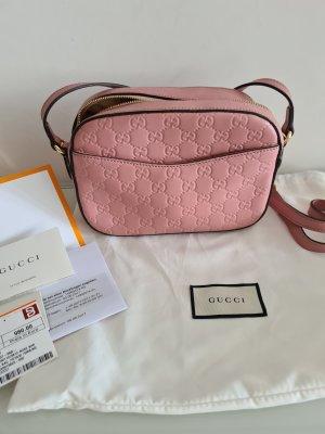 Gucci Gekruiste tas stoffig roze
