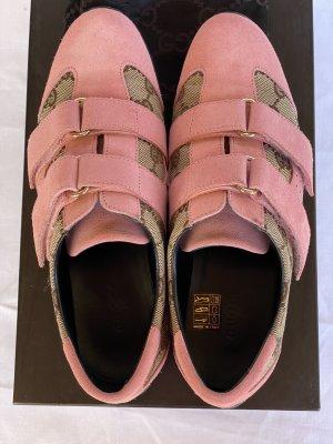 Gucci Trampki na rzepy różowy-beżowy Skóra