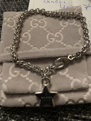 Gucci Silberarmband mit Sternanhänger