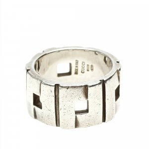 Gucci Ring silver-colored real silver