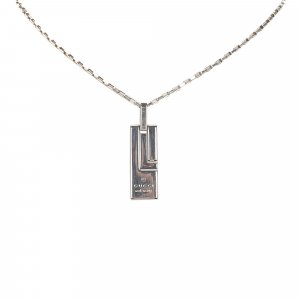 Gucci Silver-Tone Pendant Necklace