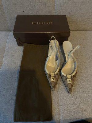 Gucci Sandalo con cinturino color cammello-beige
