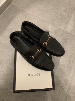 Gucci Instappers zwart Leer