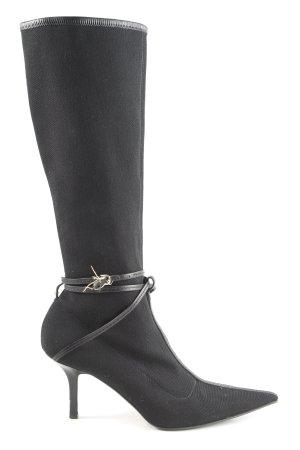 Gucci Ocieplane botki czarny W stylu casual