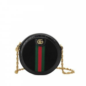 Gucci Torba na ramię bordo Skóra