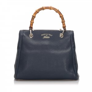 Gucci Small Bamboo Leather Shopper