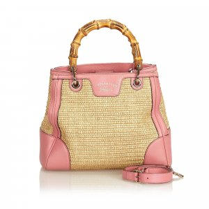 Gucci Small Bamboo Straw Satchel