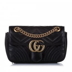 Gucci Small GG Marmont Leather Crossbody Bag